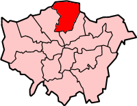 Map of Enfield and Haringey constituency