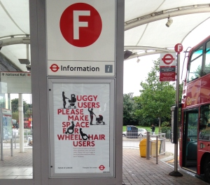 TfL's priority access campaign poster